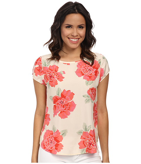 Pendleton - Short Sleeve Print Tee (Peony Print) Women's T Shirt