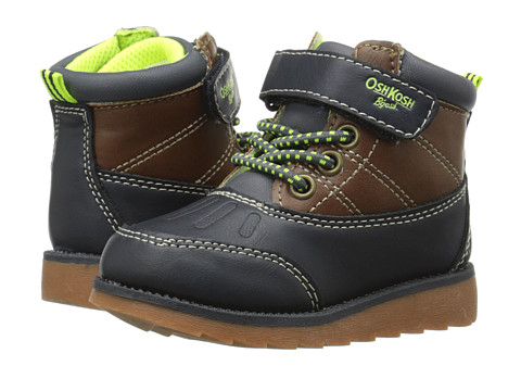 OshKosh - Aj-B (Toddler/Little Kid) (Navy/Brown) Boys Shoes