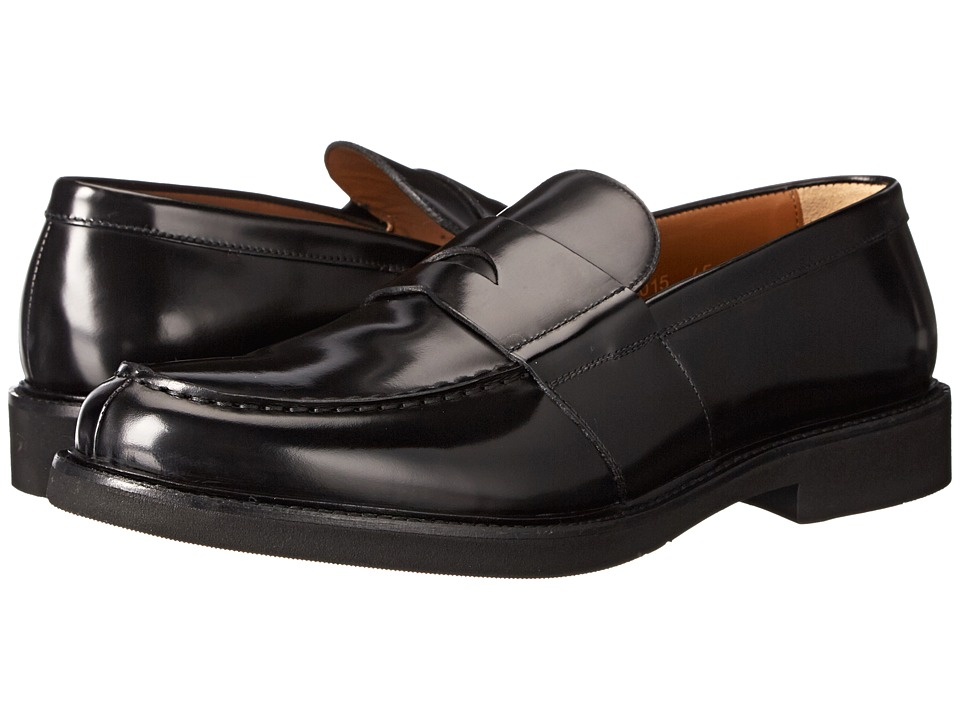 Doucal's - Arezzo 65015UF Old (Nero) Men's Slip on Shoes