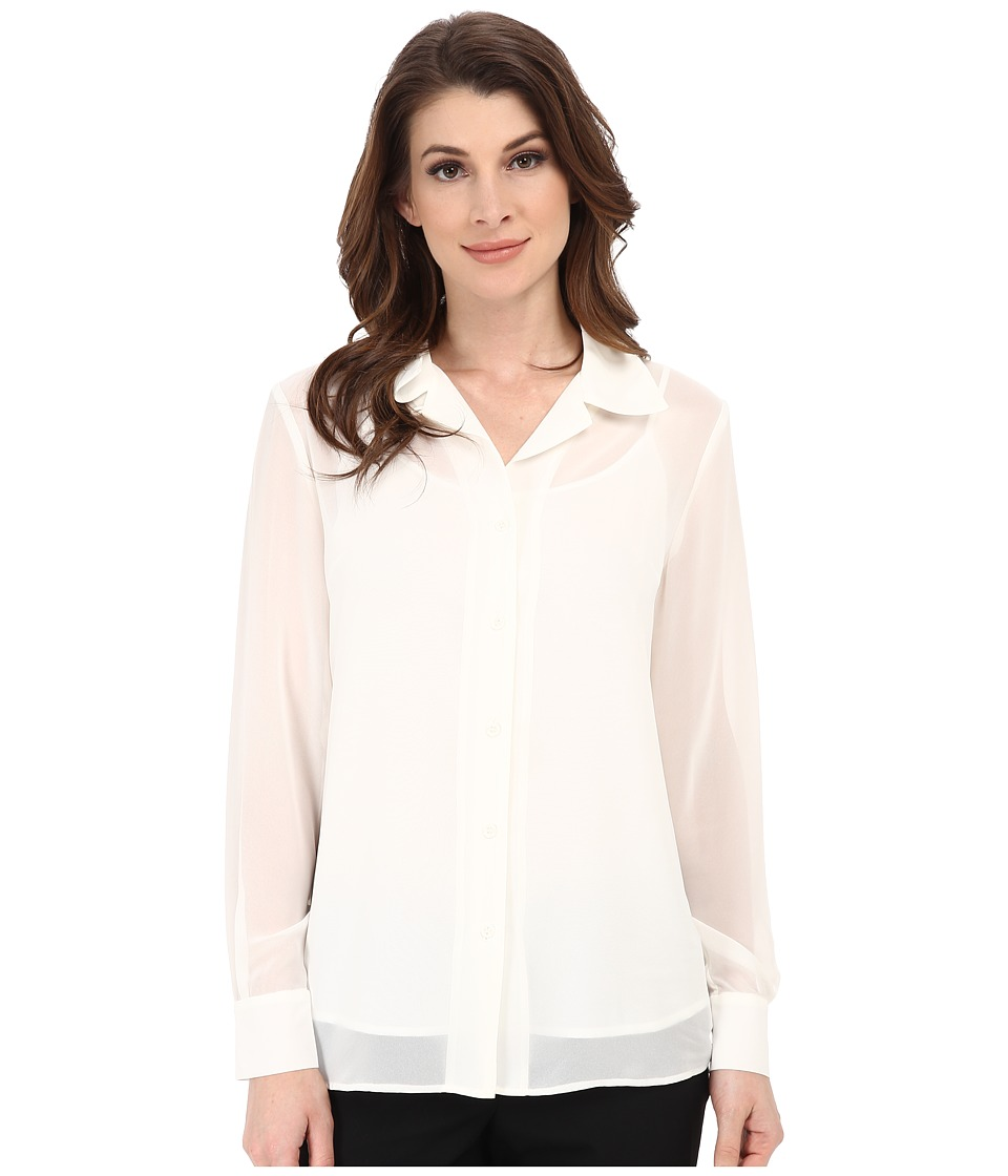Pendleton - Sheer Romance Blouse (Ivory) Women's Blouse