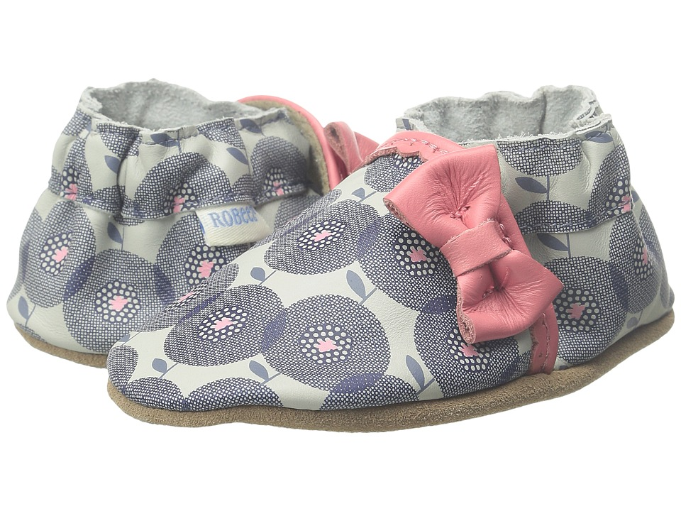Robeez - Petal Pop Soft Sole (Infant/Toddler) (Cool Grey) Girls Shoes
