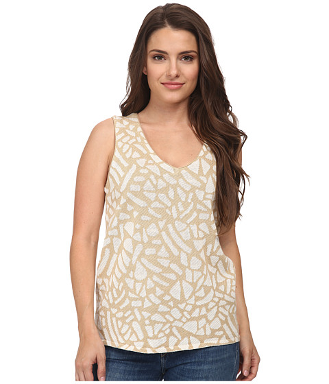 Pendleton - Park Blocks Shell (Spring Khaki/Ivory) Women's Clothing