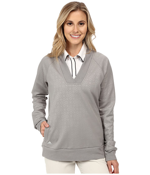 adidas Golf - Wind Fleece Pullover (Charcoal Solid Grey) Women