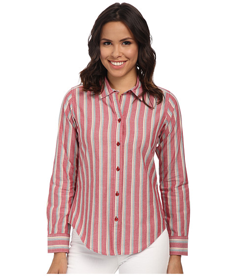 Pendleton - Classic Shirt (Chili Pepper Stripe) Women's Clothing