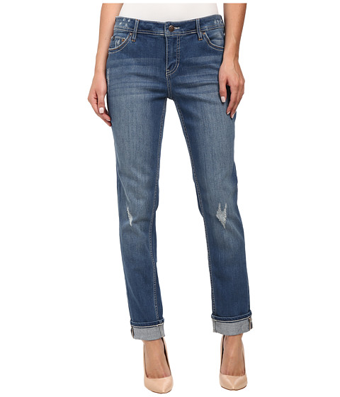 Christopher Blue - Diane Roll Boyfriend in Medium Indigo (Medium Indigo) Women's Jeans
