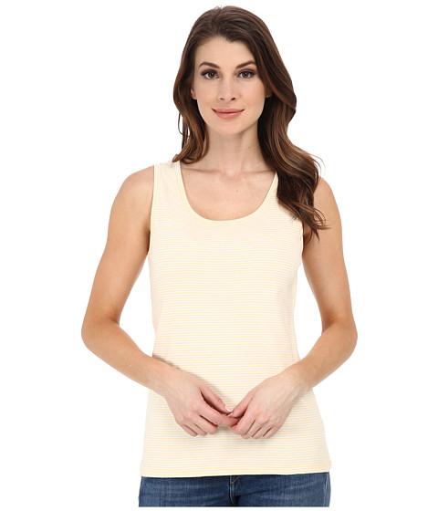 Pendleton - Stripe Rib Tank Top (White/Cornsilk Mini Stripe) Women