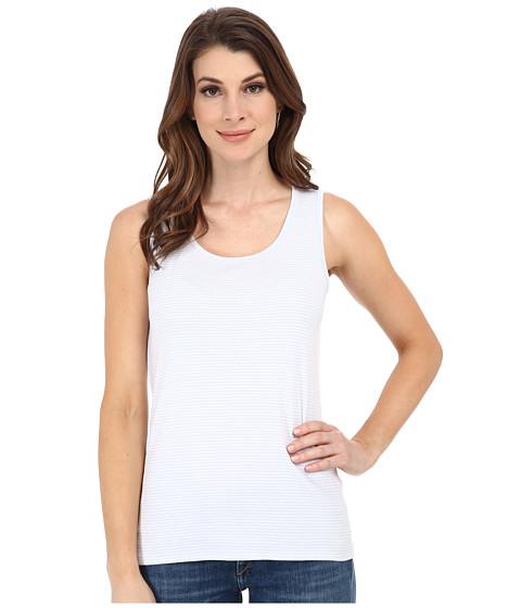 Pendleton - Stripe Rib Tank Top (White/Kentucky Blue Mini Stripe) Women's Sleeveless