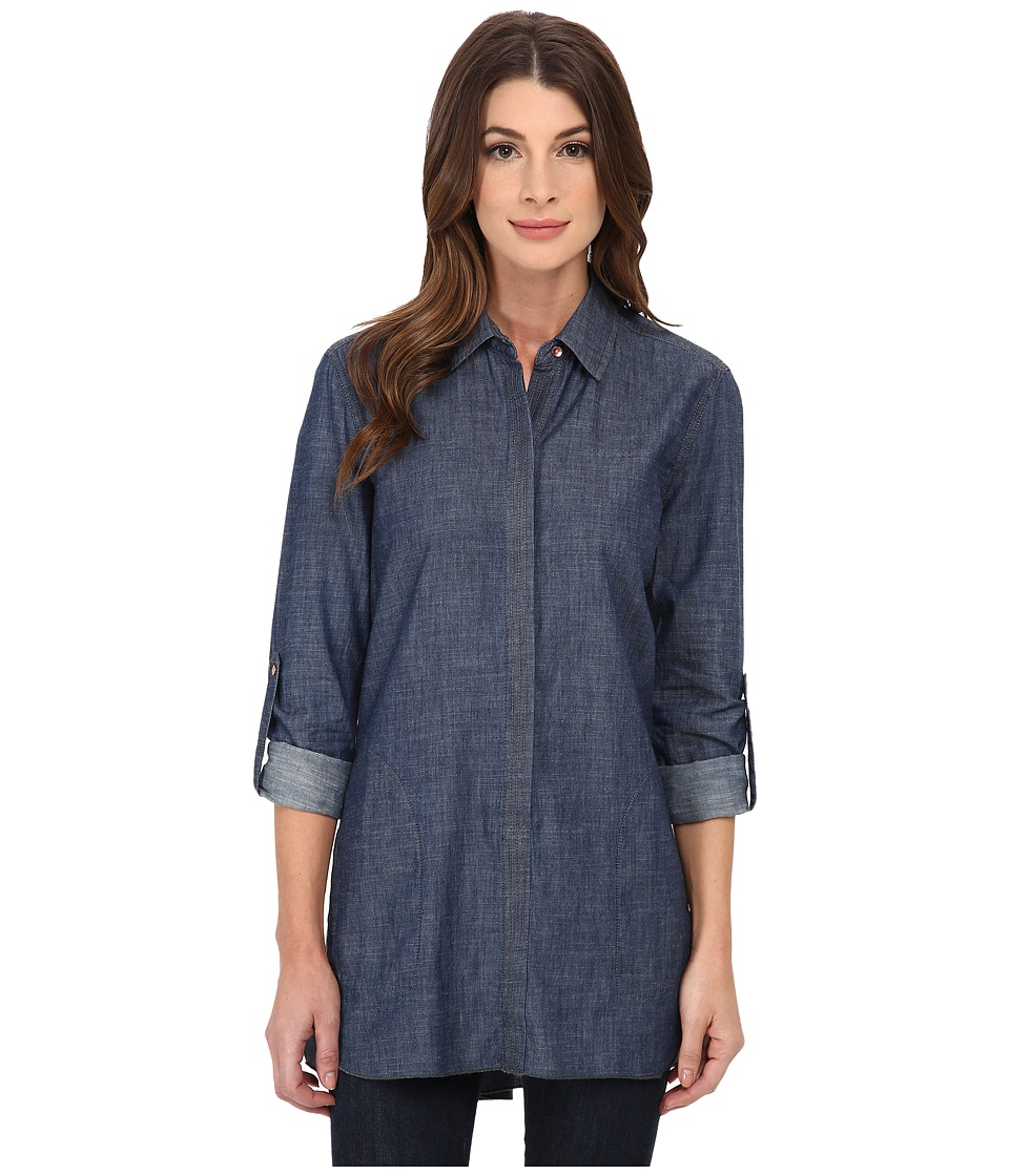 Christopher Blue - Maria (Light Indigo) Women's Long Sleeve Button Up