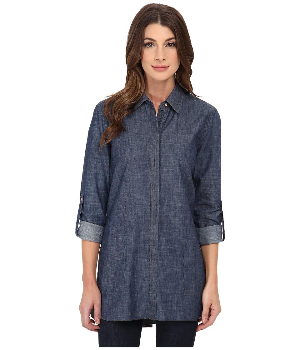 Christopher Blue - Maria (Light Indigo) Women's Long Sleeve Button Up