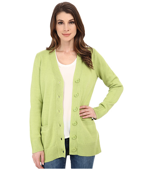Pendleton - Long Coventry Cardigan (Lemongrass) Women's Sweater