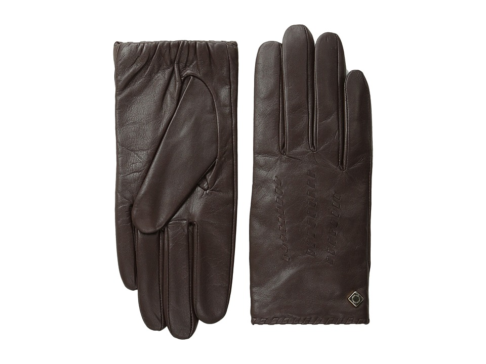 Cole Haan - Whipstitch Shortie Leather Glove (Mahogany) Extreme Cold Weather Gloves