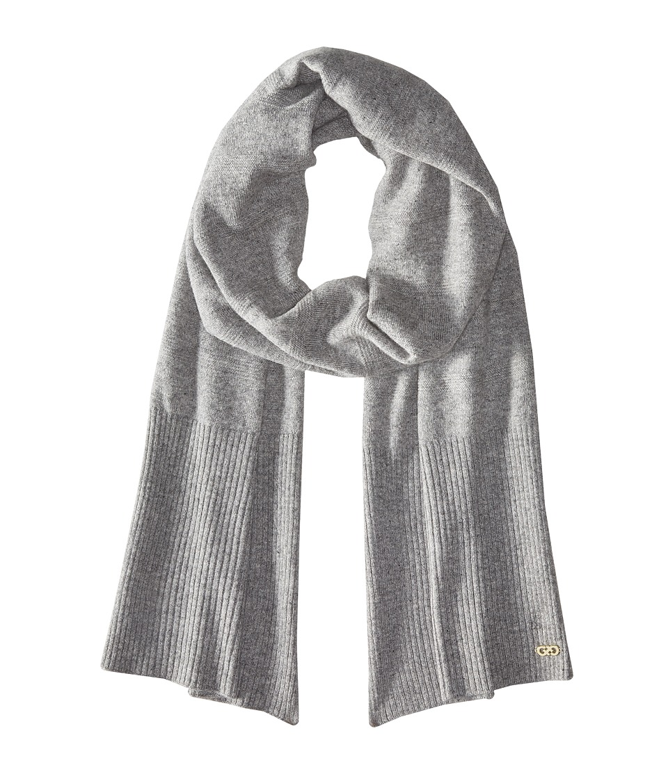 Cole Haan - Cashmere Muffler (Grey Heather) Scarves