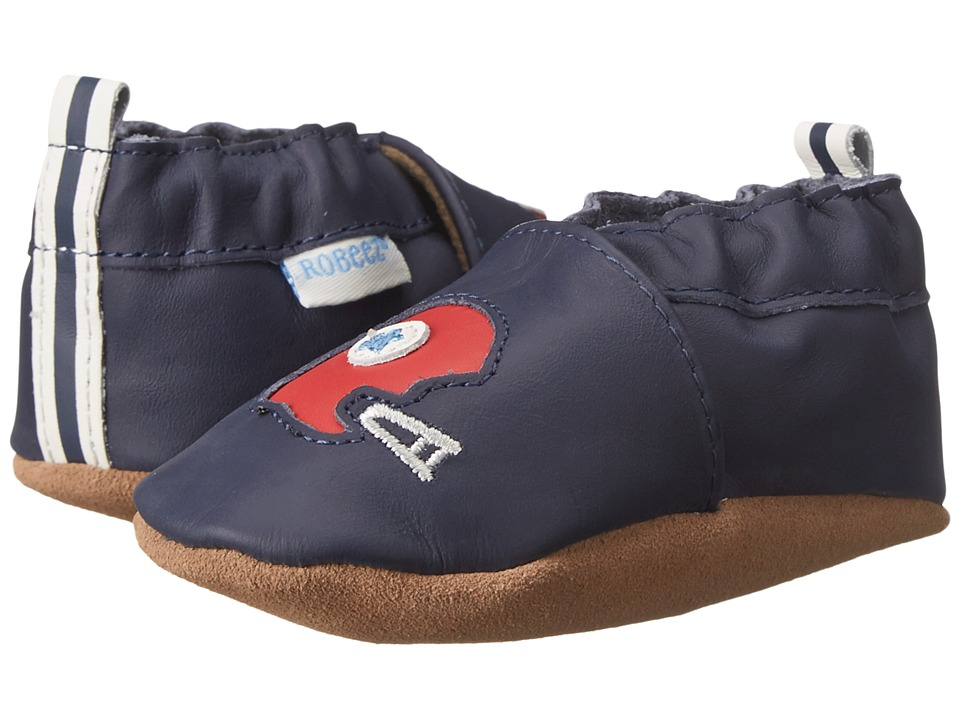 Robeez - Football Frenzy Soft Sole (Infant/Toddler) (Navy/Red Helmet) Boys Shoes