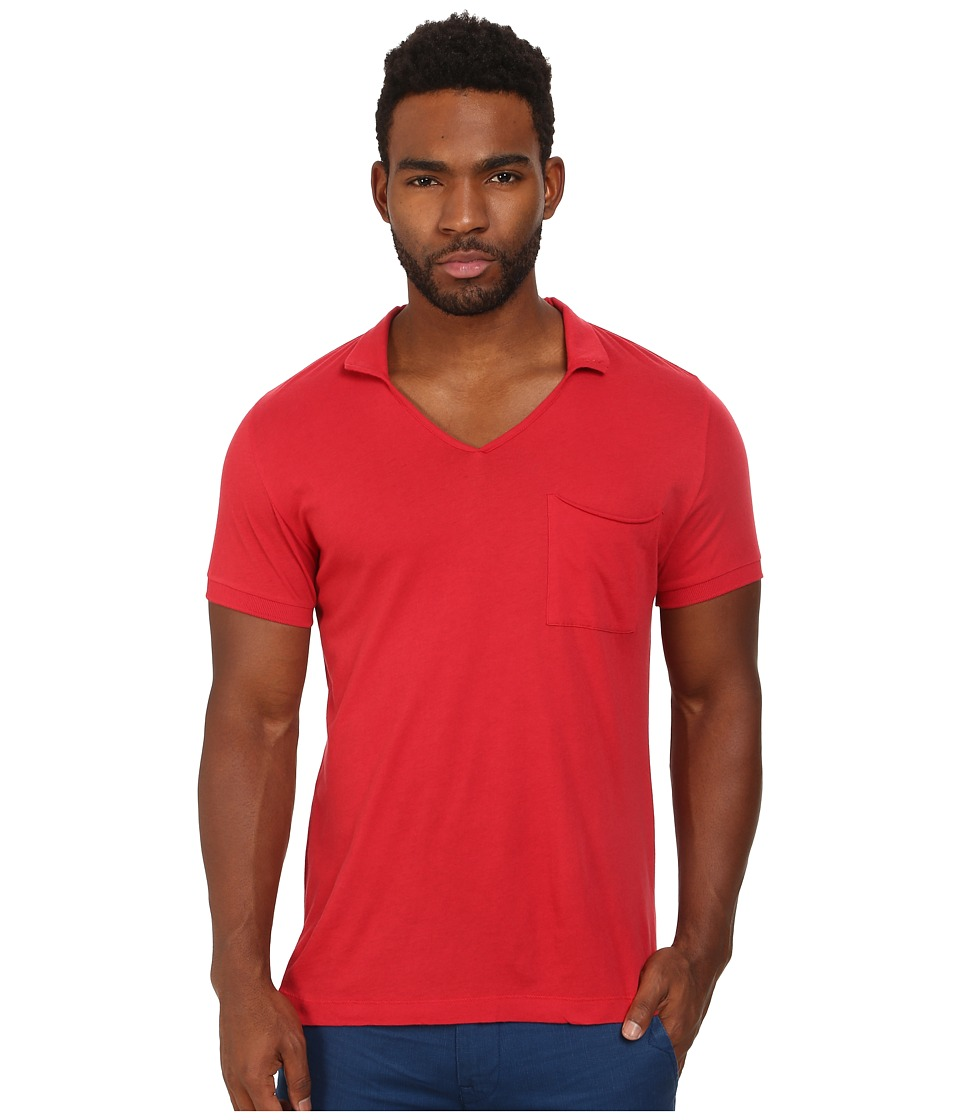 French Connection - Lunar Jersey Polo (Red) Men's Clothing