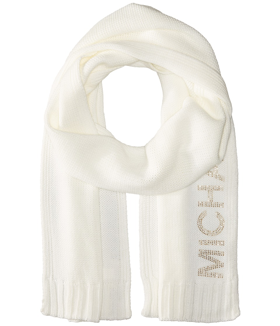 MICHAEL Michael Kors - Heat Seal Studded Logo Scarf (Cream/Polished Gold) Scarves