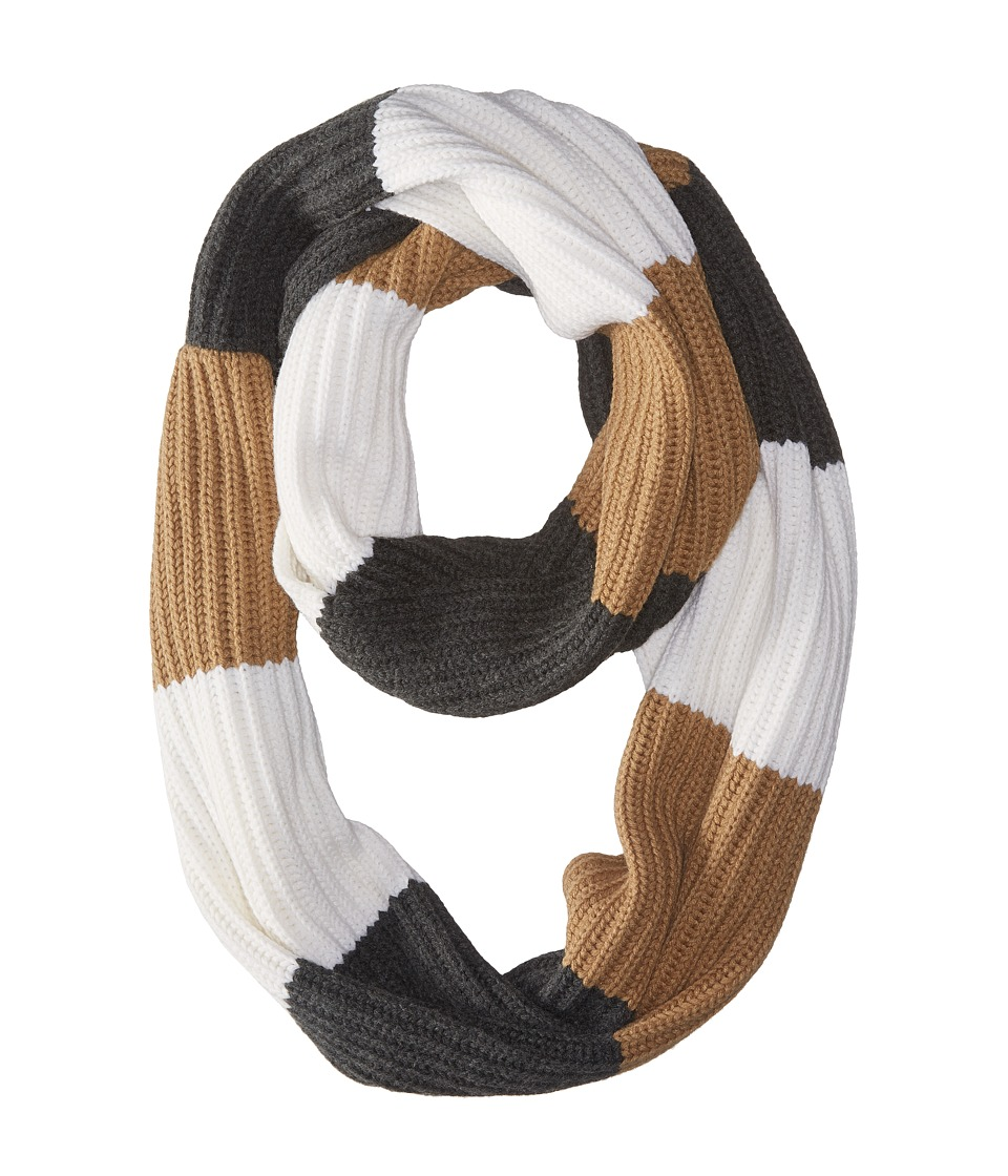 MICHAEL Michael Kors - Fisherman Rugby Multicolor Large Infinity Scarf (Dark Camel/Cream/Derby) Scarves