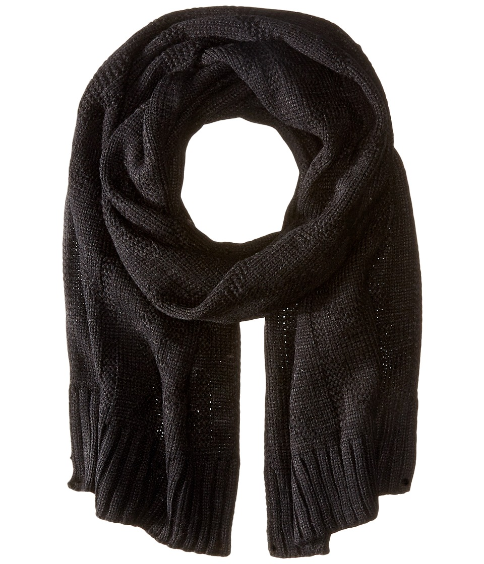 MICHAEL Michael Kors - Seed Stitch Scarf (Black) Scarves