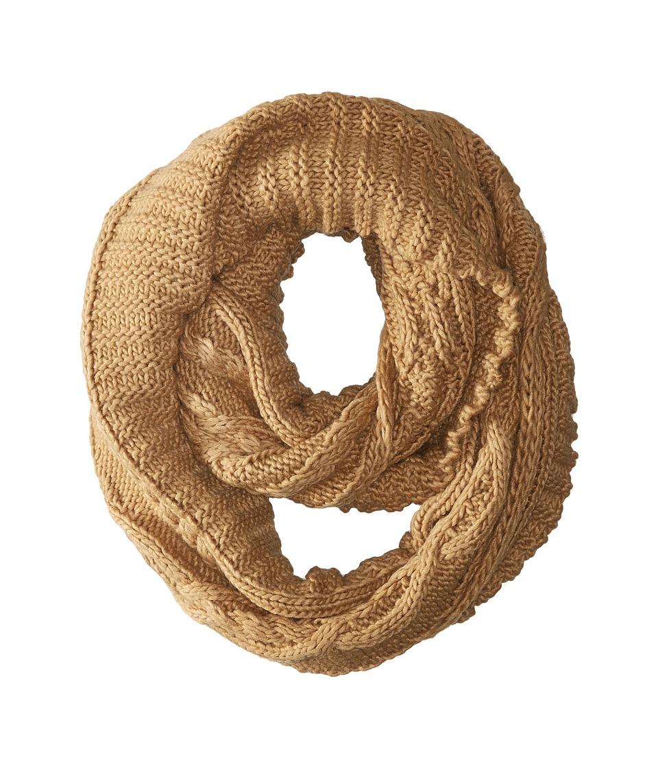 MICHAEL Michael Kors - Hand Knit Large Infinity Scarf (Dark Camel) Scarves