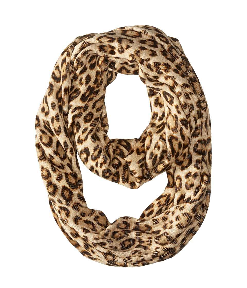 MICHAEL Michael Kors - Leopard Raschel Large Infinity Scarf (Caramel Combo) Scarves
