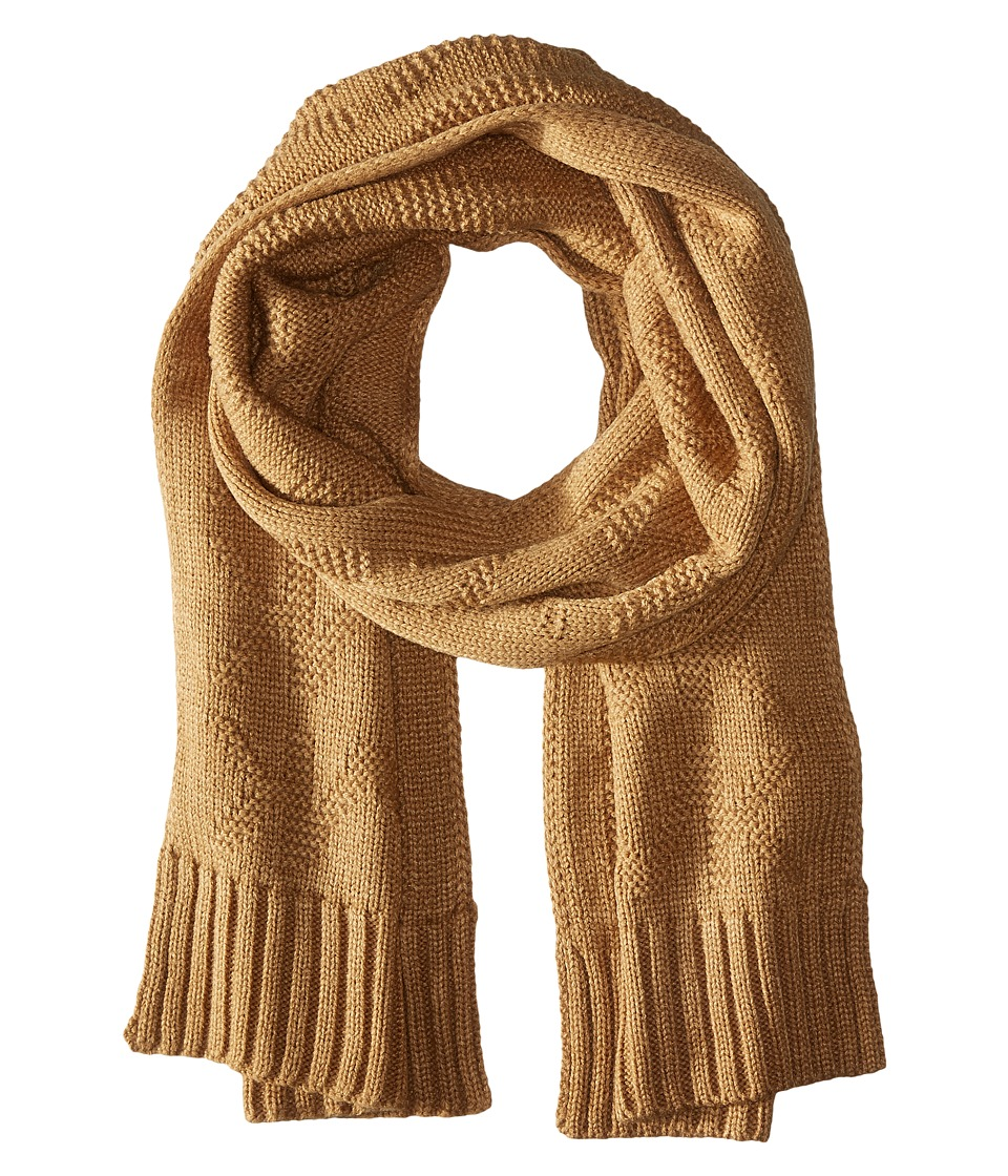 MICHAEL Michael Kors - Seed Stitch Scarf (Dark Camel) Scarves