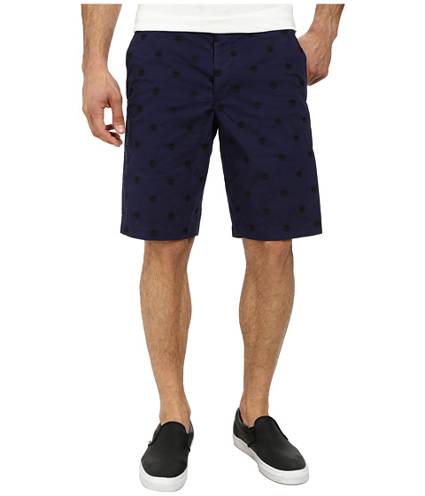 French Connection - Isizwe Embroidered Twill Shorts (Blueblood) Men
