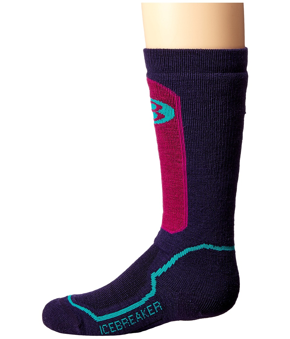 Icebreaker - Snow Medium Over The Calf (Toddler/Little Kid/Big Kid) (Lotus) Crew Cut Socks Shoes