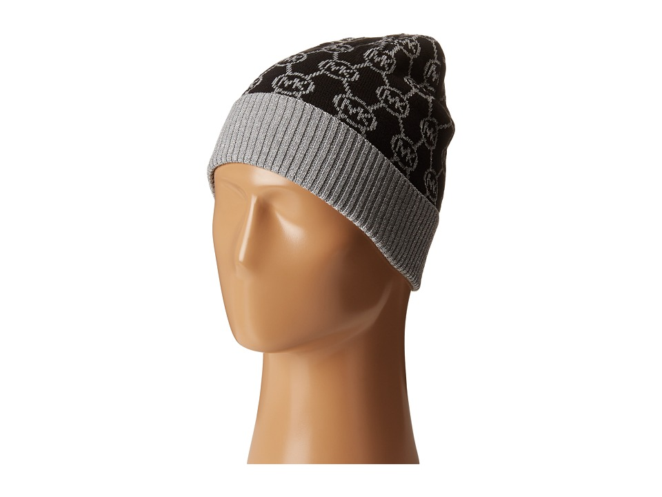 MICHAEL Michael Kors - Jet Set Logo with Lurex Cuff Hat (Black/Pearl Heather Grey/Silver) Caps