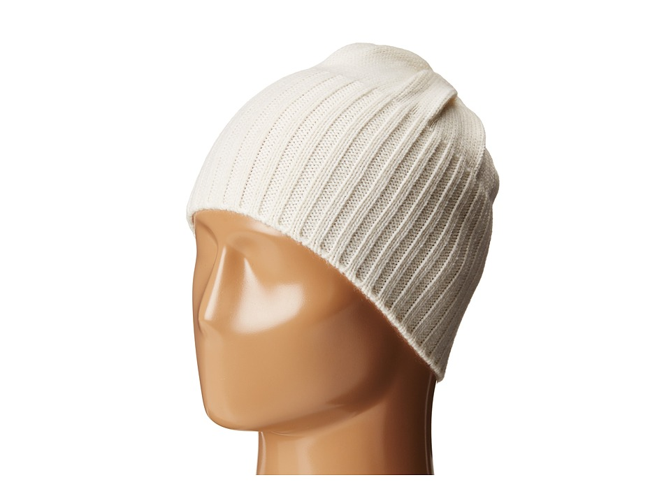 MICHAEL Michael Kors - Jersey Shallow Hat with Buttons (Cream/Polished Gold) Caps