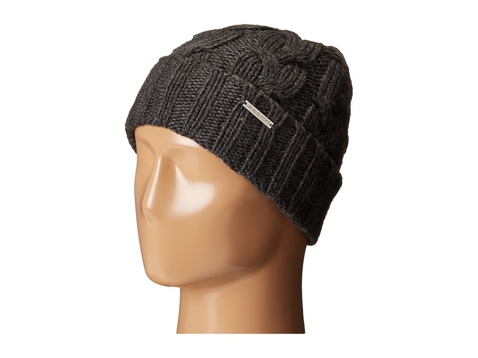 MICHAEL Michael Kors - Cable Knit Hat with Fold Up Cuff (Derby) Knit Hats