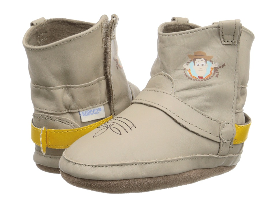 Robeez - Disney Baby By Robeez Woody Bootie Soft Sole (Infant/Toddler) (Taupe) Boys Shoes