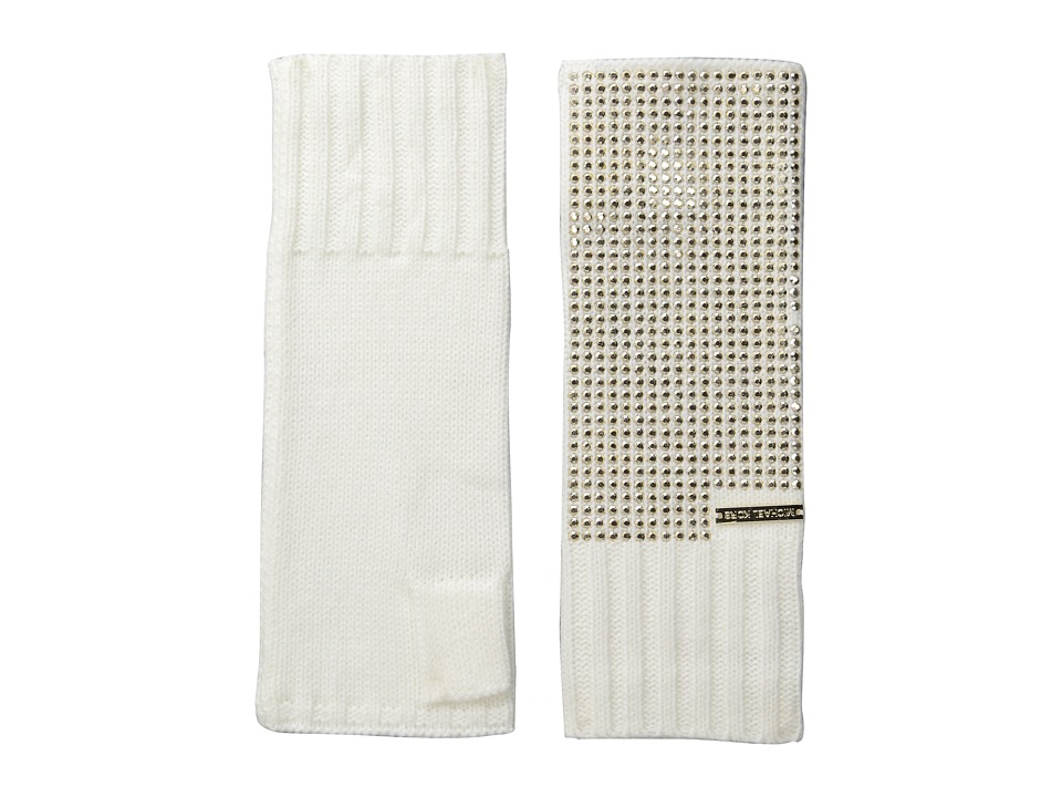 MICHAEL Michael Kors - Heat Seal Studded Armwarmer (Cream/Polished Gold) Extreme Cold Weather Gloves