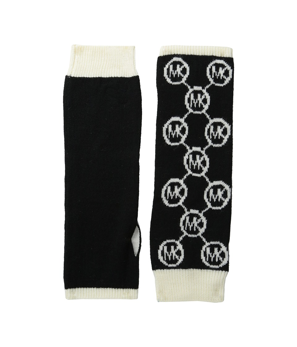 MICHAEL Michael Kors - Jet Set Logo Armwarmer (Black/Cream) Extreme Cold Weather Gloves