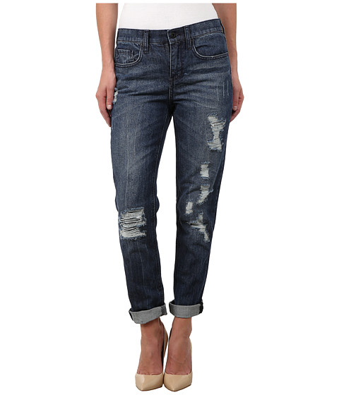 DKNY Jeans - Rip and Repair Bowery Boyfriend in Medium Indigo (Medium Indigo) Women's Jeans