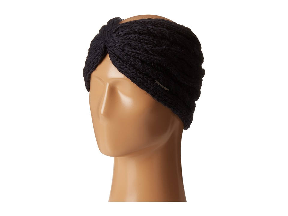 MICHAEL Michael Kors - Cable Knit Jersey Twisted Headband (New Navy) Headband