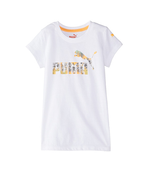 Puma Kids - Summer Logo Tee (Little Kids) (PUMA White) Girl