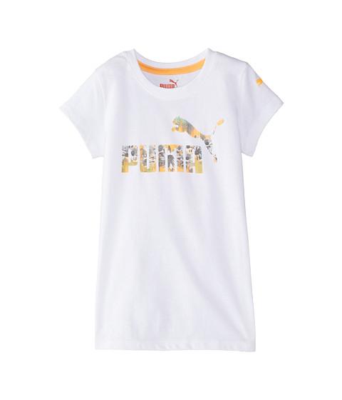 Puma Kids - Summer Logo Tee (Little Kids) (PUMA White) Girl's T Shirt