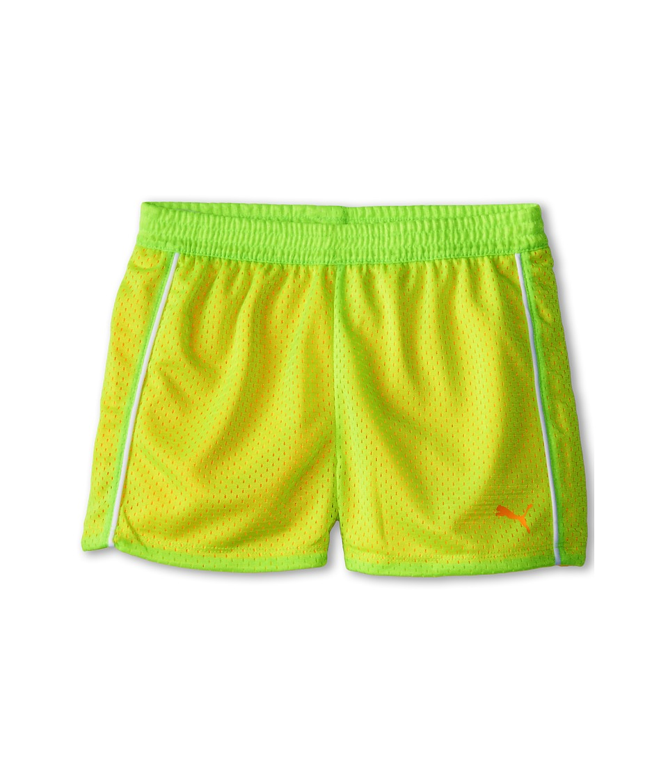 Puma Kids - Double Mesh Shorts (Big Kids) (Kite Green) Girl's Shorts
