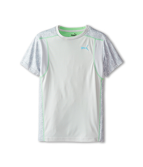 Puma Kids - Short Sleeve Active Tee (Big Kids) (Fog Grey) Boy