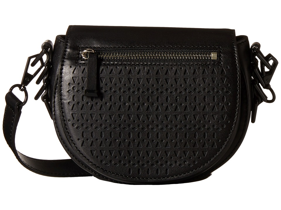 Rebecca Minkoff - Small Astor Saddle Bag (Black) Handbags