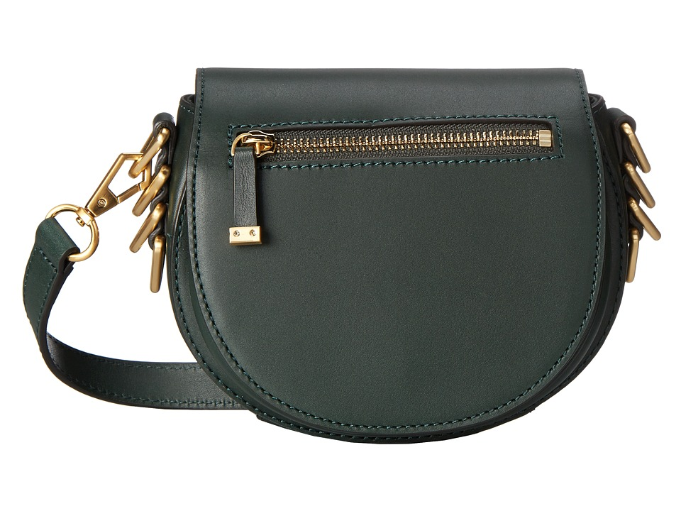 Rebecca Minkoff - Small Astor Saddle Bag (Dark Forest) Handbags