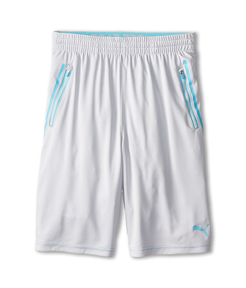 Puma Kids - Active Jersey Shorts (Big Kids) (Tin Heather Grey) Boy's Shorts