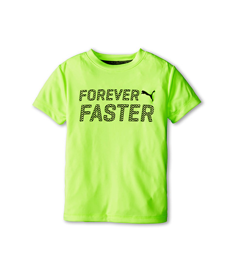 Puma Kids - Short Sleeve Forever Faster Tee (Little Kids) (Acid Yellow) Boy's T Shirt