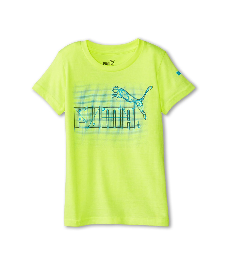 Puma Kids - Drawing Board Tee (Little Kids) (Acid Yellow) Boy's T Shirt