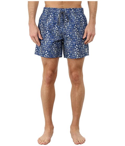 Ted Baker - Tanwell Wave Print Shortti (Blue) Men's Swimwear