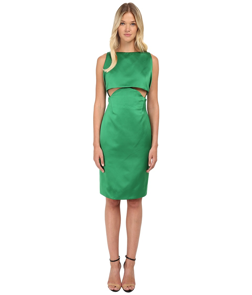 Zac Posen - Two Part Cropped Dress with Open Back (Kelly Green) Women's Dress