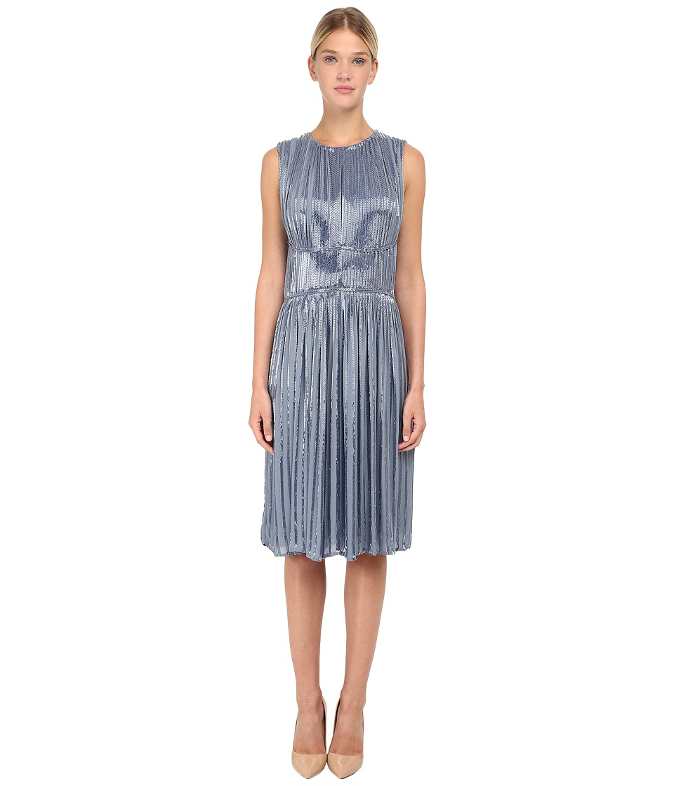 Zac Posen - Bugle Beaded Cocktail Dress (Powder Blue) Women's Dress