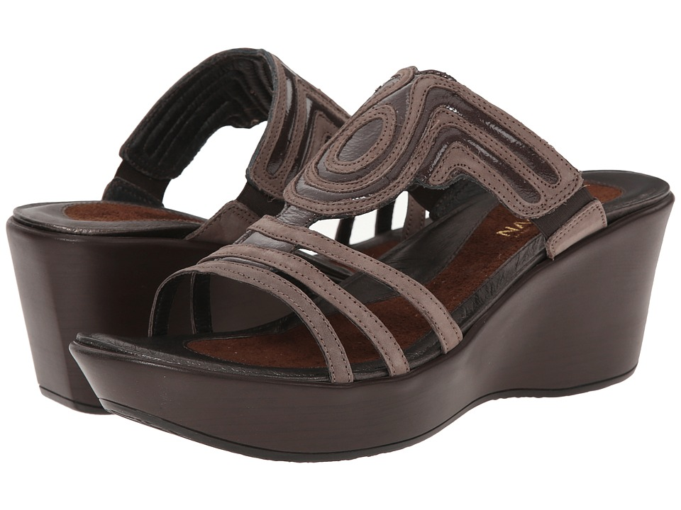 Naot Footwear - Enchant (Chocolate Leather/Shiitake Suede) Women's Sandals