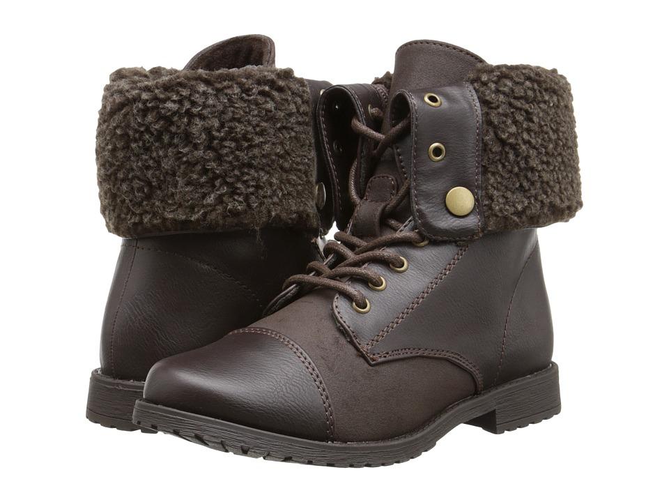 Rachel Kids - Aspen (Little Kid/Big Kid) (Brown Smooth) Girls Shoes