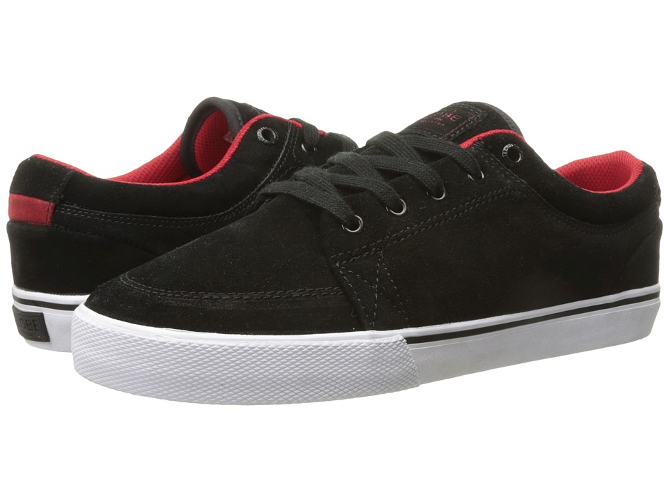 Globe - GS (Black/Red/Suede) Men's Skate Shoes
