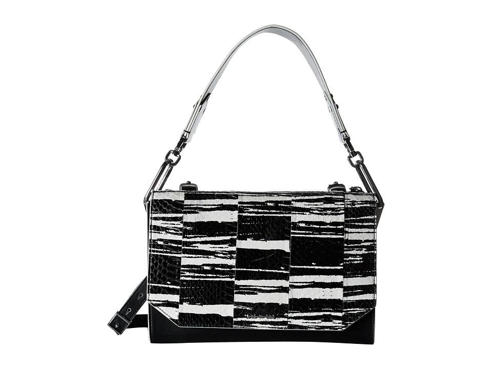 McQ - Vail Shoulder Bag (Black/White Elaphe Graphic) Shoulder Handbags